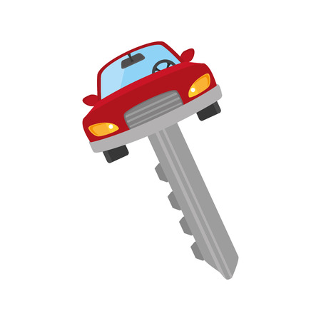 keyholder: car key security automobile access  metal auto vehicle control vector illustration isolated