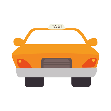 taxi cab car auto vehicle service delivery front vector illustration isolated Illustration