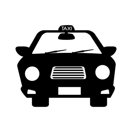 taxi cab service car vehicle drive street city auto Illustration