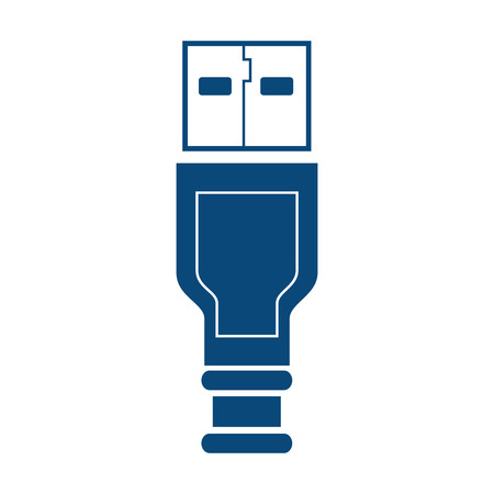 portable: usb cable plug portable electronic connect drive vector illustration isolated