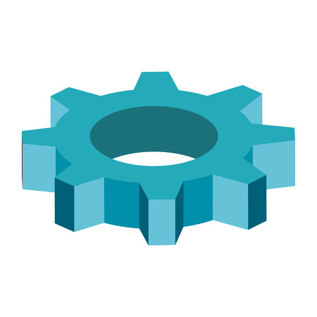 cog wheel: gear cog wheel industry industrial mechanical object vector illustration isolated
