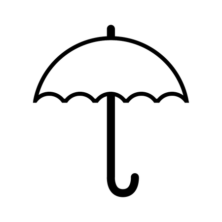 umbrella rain weather water parasol safety season vector illustration isolated Illustration