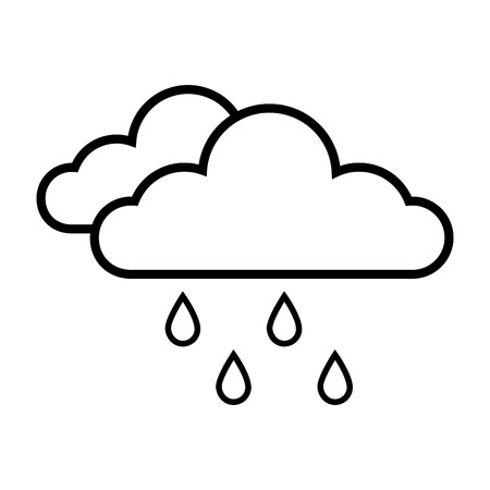 day forecast: cloud rainy cloudy weather season meteorology vector illustration isolated Illustration