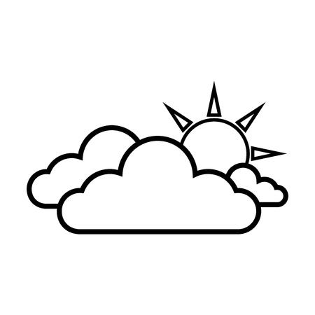 clear: sunny cloud sun weather sky clear sunrise vector illustration isolated