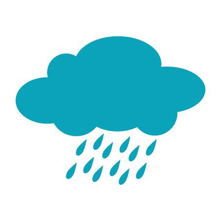 rainy season: cloud rainy cloudy weather season meteorology vector illustration isolated Illustration