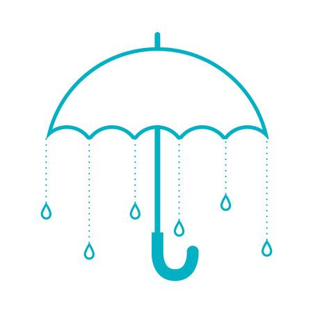 ilustración vectorial paraguas de la lluvia del tiempo sombrilla temporada de la seguridad del agua aislada Ilustración de vector