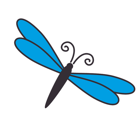 dragonfly wing: dragonfly wing insect fairy antenna flies nature animal vector illustration isolated