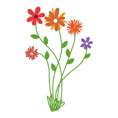 flower bouquet floral spring plant petal nature decorative vector illustration isolated