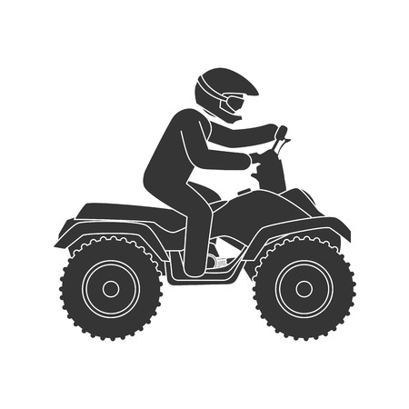 sportive: motorcycle sport extreme adventure sportive driver bike helmet protection vector illustration isolated Illustration