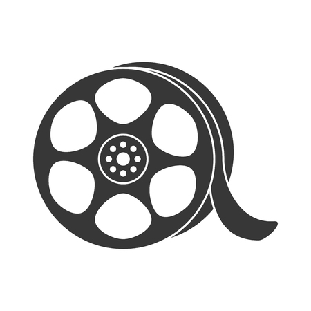 rec: reel video broadcast cinema retro vintage roll movie record vector illustration isolated Illustration