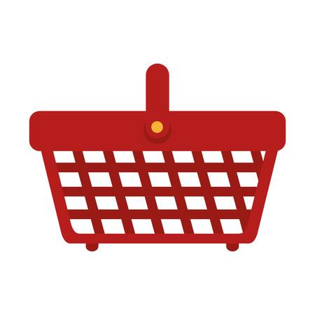 supermarket shopper: basket supermarket handle carry bucket shopper store vector illustration isolated