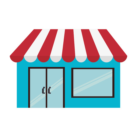 shop local: shop store building commercial local kiosk market vector illustration isolated