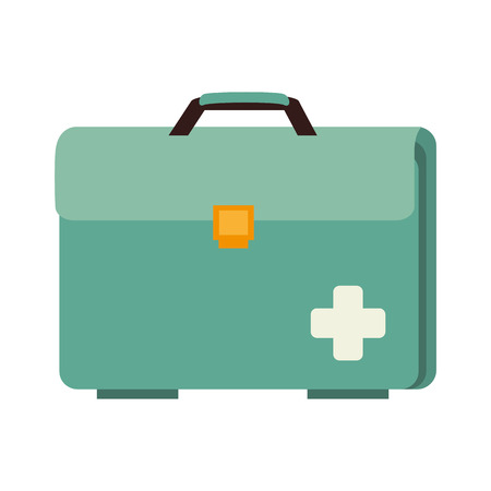medical equipment: case medical doctor medicine box equipment hospital vector illustration isolated