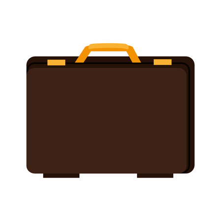 accesory: suitcase executive case portfolio male handle accesory vector illustration isolated