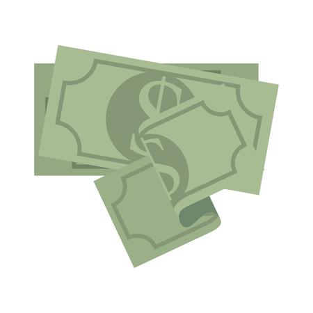 green economy: money bill cash economy finacial business bank green vector illustration isolated
