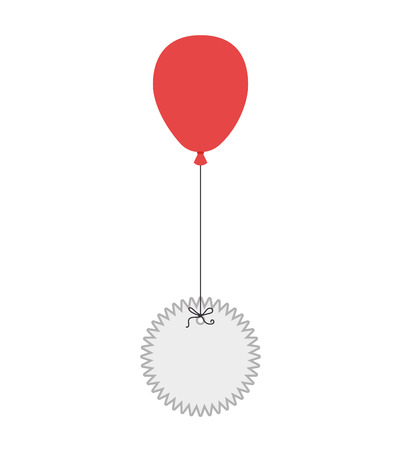helium: balloon stamp flying air celebration helium rubber vector illustration isolated Illustration