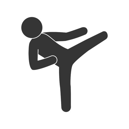 active life: judo fight man training competition move sport vector illustration isolated Illustration