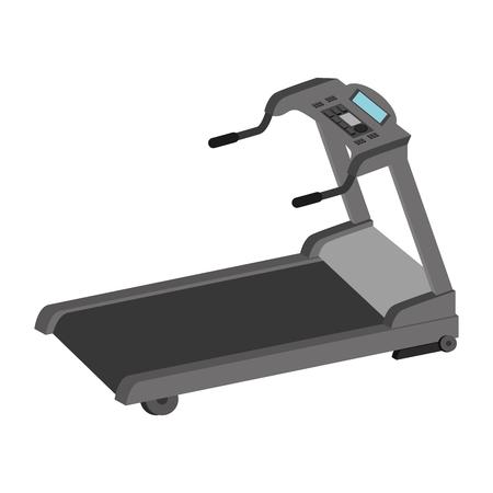 gym equipment: walker gym equipment sport training exercise firness vector illustration isolated Illustration