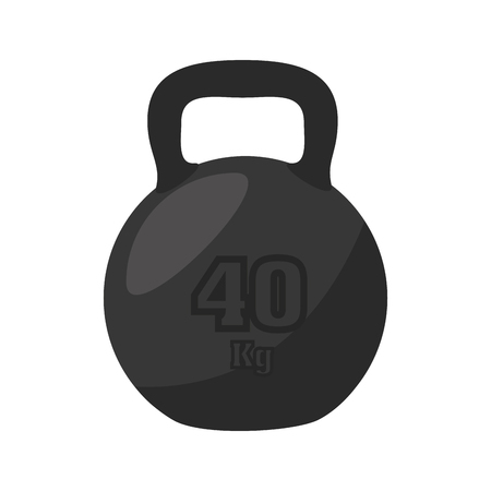 gym equipment: dumbbell weight equipment gym sport training muscle vector illustration isolated
