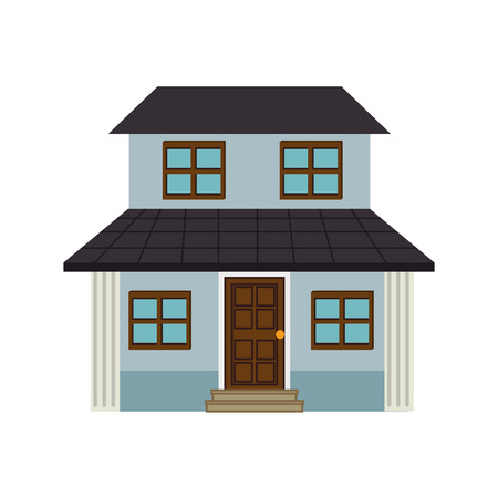residence: house modern residential real home building exterior residence vector illustration isolated Illustration
