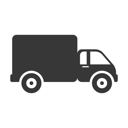 commerce and industry: truck cargo delivery vehicle shipping transport commerce industry vector illustration isolated Illustration