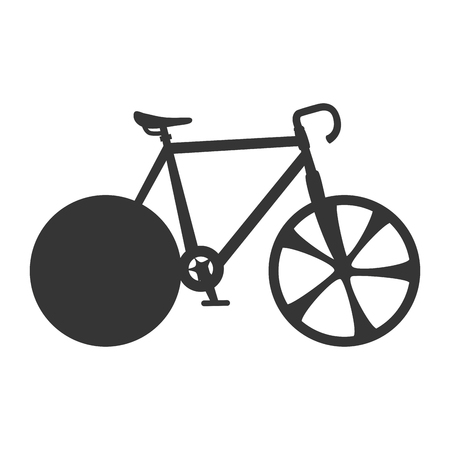 training wheels: cyclist sport bicycle wheels training exercise vector illustration isolated