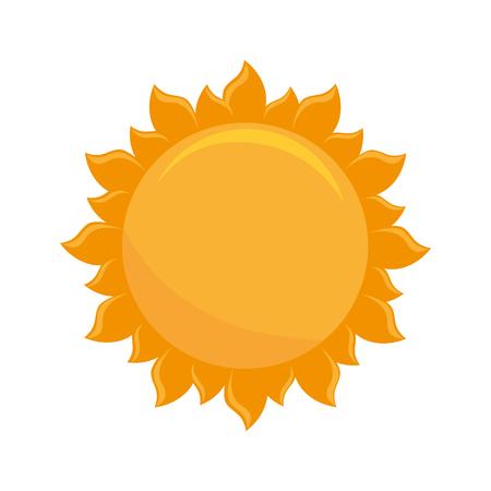 ray of light: sun light hot natural sign heat ray vector illustration isolated Illustration