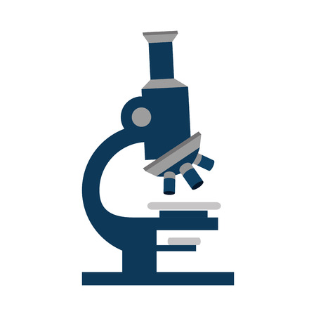 microscope tool science biological health research medical vector illustration isolated