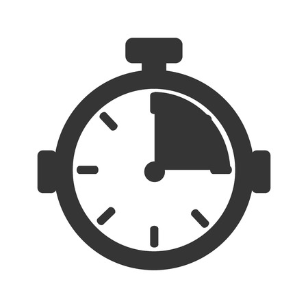 chronometer: chronometer device time countdown counter button training vector illustration isolated