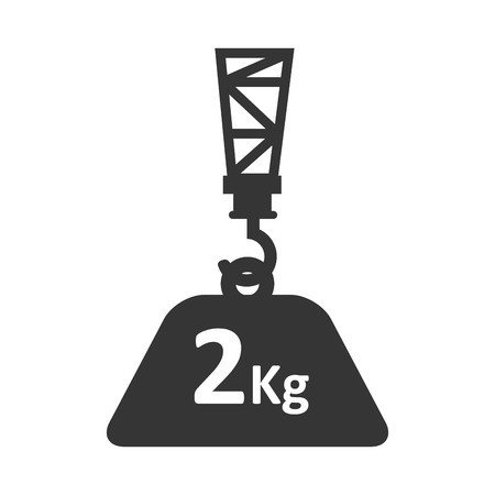 heavy weight: cargo hook hang hanging heavy object industry weight container vector illustration isolated