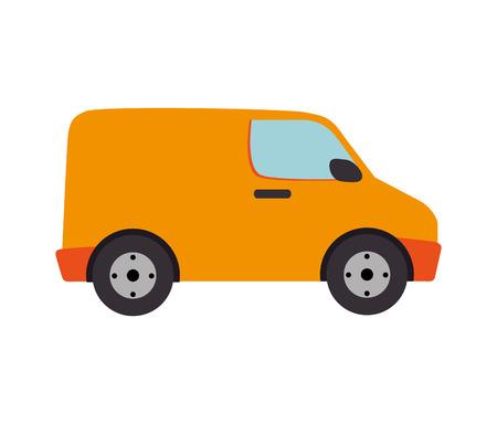 transporter: van cargo delivery transport industry shipment vehicle transporter vector ilustration isolated