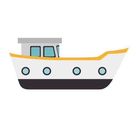 big boat: big ship boat delivery cargo front sea ocean vector illustration isolated
