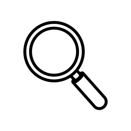 examine: lupe magnifying glass search explore instrument focus examine vector