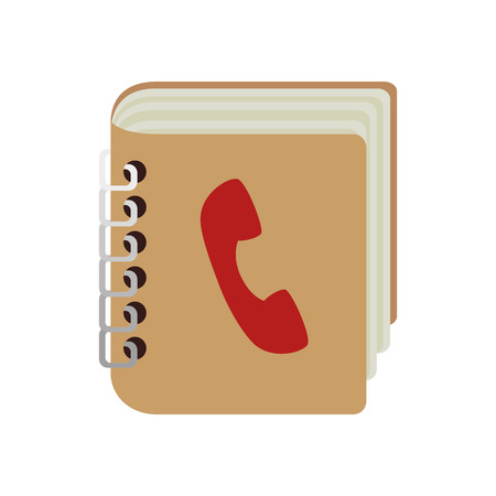 personal profile: contacts book phones address notebook mobile personal communication telephone profile vector illustration isolated Illustration