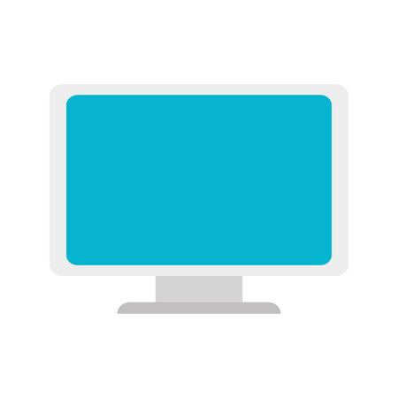 pc monitor: monitor pc computer screen device technology computer vector illustration isolated Illustration