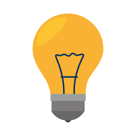 illumination: bulb light electricity idea illumination power bright think vector illustration isolated