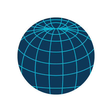 corporation: global icon globe connection network worldwide map corporation vector illustration isolated