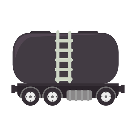 trucker: truck oil station gasoline tank container  transport vector illustration isolated Illustration