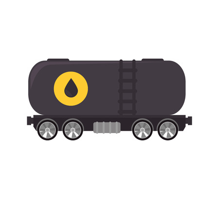 truck oil station gasoline tank container  transport vector illustration isolated Illustration