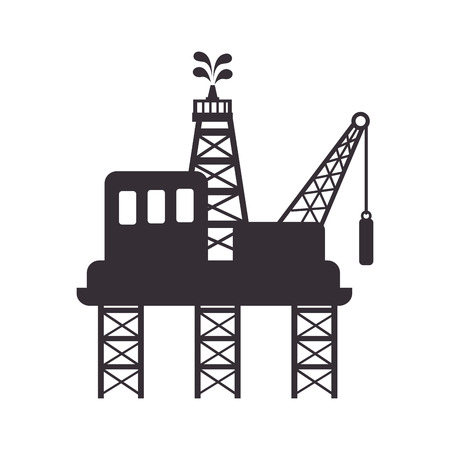 distillation: plant chemistry tower pipe engineering distillery factory structure industry vector illustration isolated
