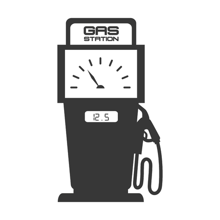 stranded: gas pump station nozzle car vehicle industrial fuel auto vector illustration isolated