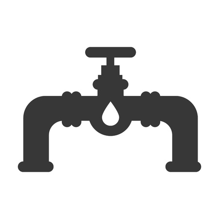 oil pipe: tap liquid key water oil pipe metal drop vector illustration isolated