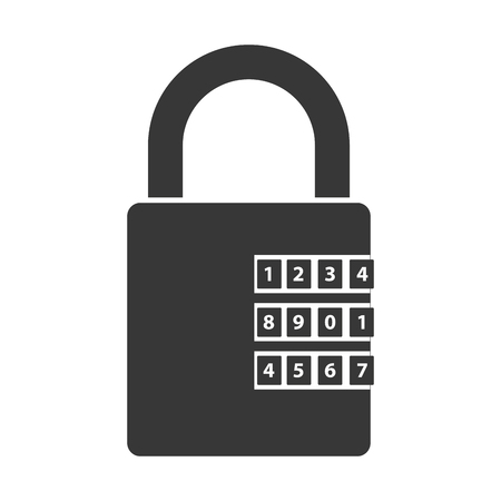 safeguard: lock security safety safeguard object closed vector illustration isolated