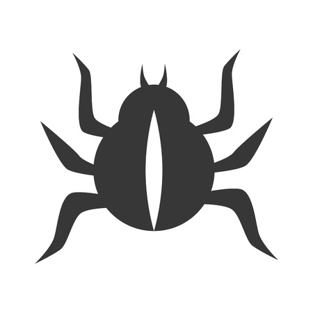 coleoptera: bug scarab beetle insect animal  vector illustration isolated Illustration