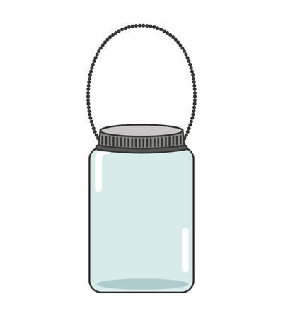 mason: cute mason jar isolated icon vector illustration design Illustration