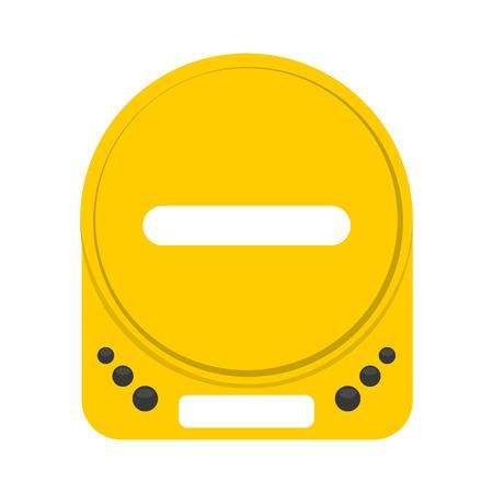 walkman: retro player music isolated icon vector illustration design
