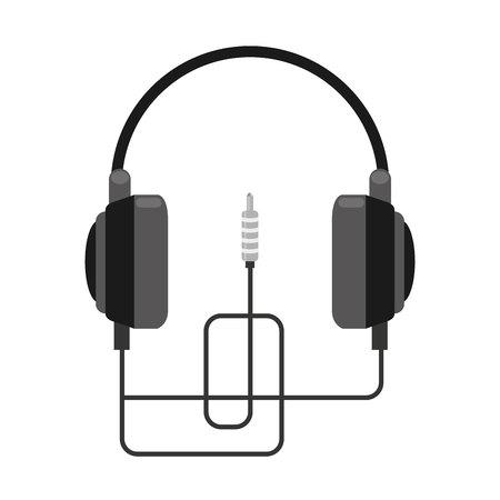 earphone: earphone wire music icon vector illustration design