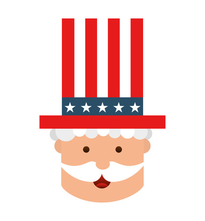 hat united states of america vector isolated graphic