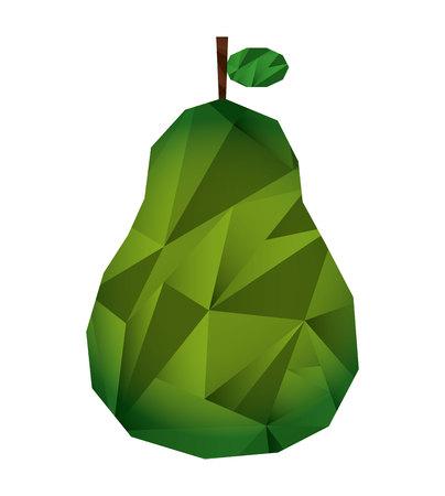 fresh fruit low poly isolated icon vector illustration design Ilustracje wektorowe