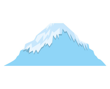 snowcapped landscape: mount fuji asian isolated icon vector illustration design